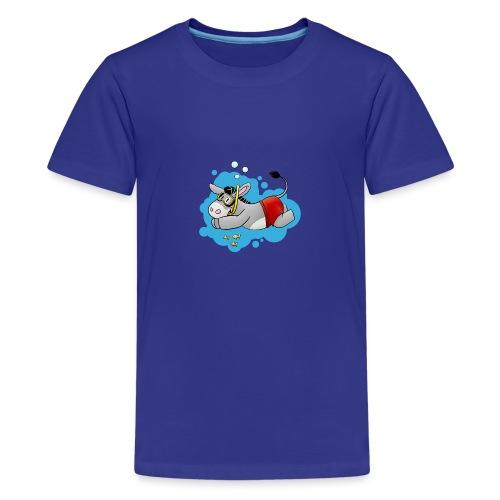 Esel - Kuschelesel geht schwimmen - Teenager Premium T-Shirt