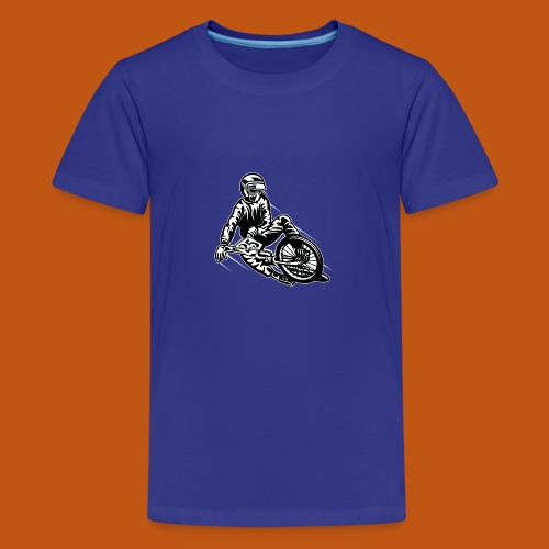 BMX / Mountain Biker 03_schwarz weiß - Teenager Premium T-Shirt