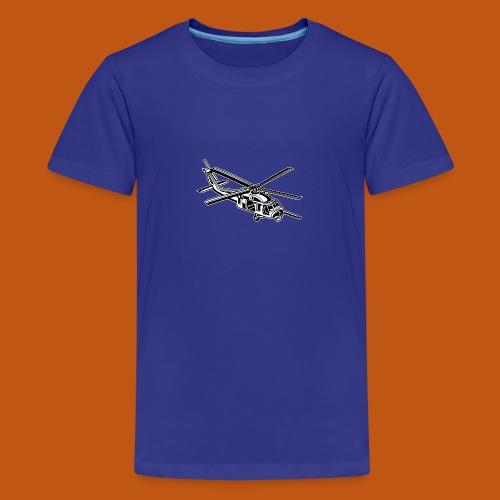 Hubschrauber / Helikopter 01_schwarz weiß - Teenager Premium T-Shirt