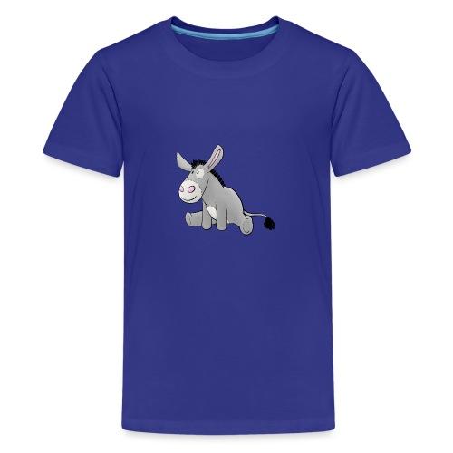 Esel - Kuschelesel sitzend - Teenager Premium T-Shirt