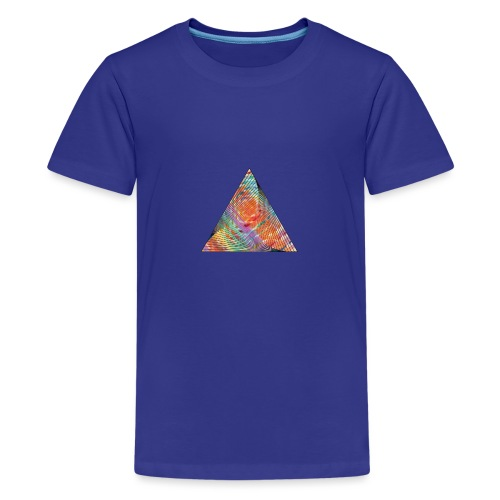 Triangle of twisted color - Teenage Premium T-Shirt