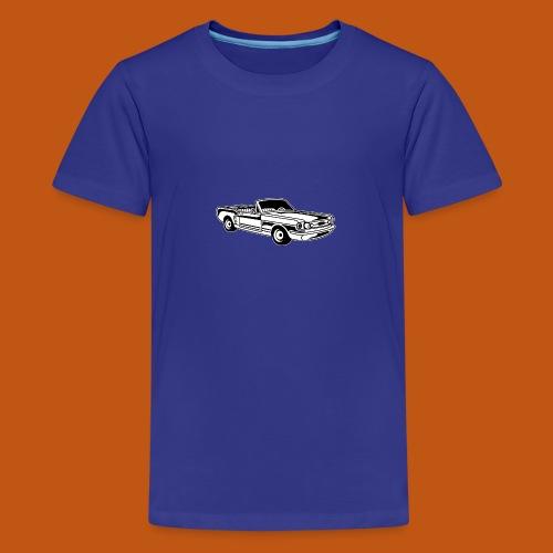 Cabrio / Muscle Car 02_schwarz weiß - Teenager Premium T-Shirt