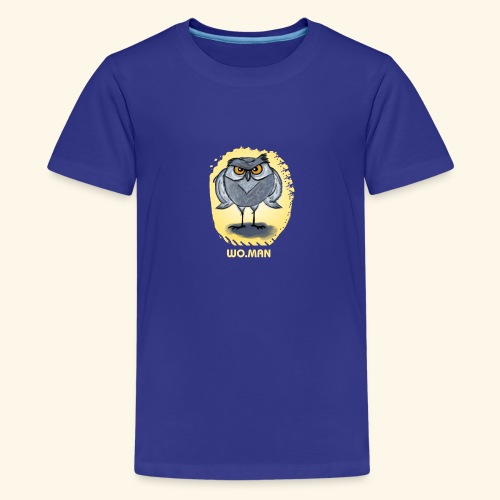 hibou wo.man design - T-shirt Premium Ado