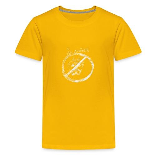 Mättää black - Premium-T-shirt tonåring