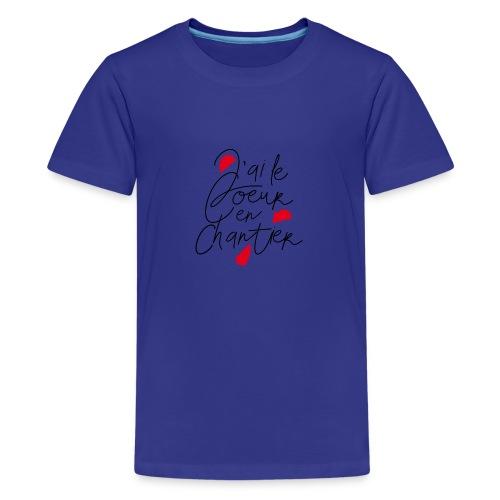 coeur en chantier - T-shirt Premium Ado