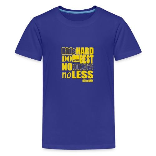 ridehard yellow - Teenage Premium T-Shirt