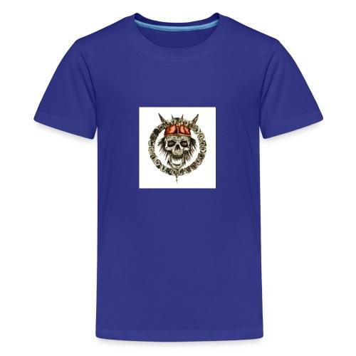 viking skull runes - T-shirt Premium Ado