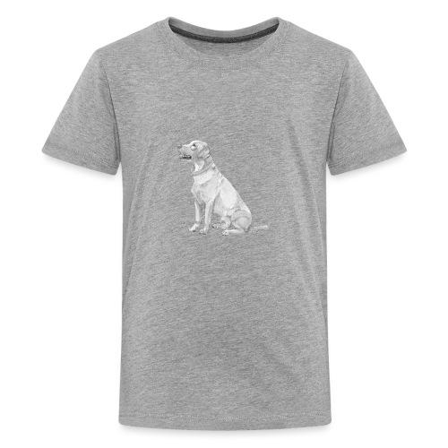 labrador Retriever Yellow - Ink - Teenager premium T-shirt
