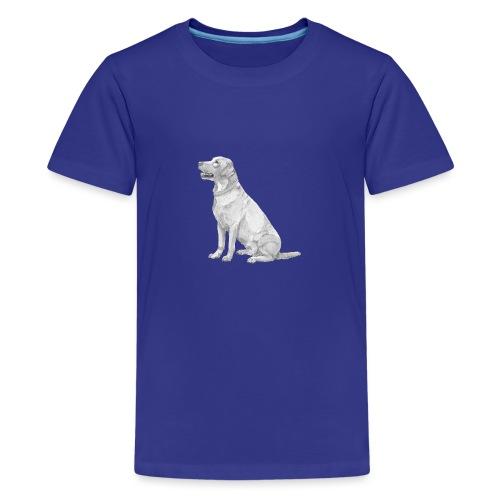 labrador Retriever Yellow sit - Teenager premium T-shirt