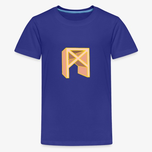 Rune Mannaz in Living-Coral - Teenager Premium T-Shirt