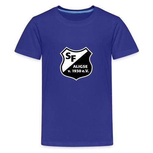 SFA_Wappen_schwarz weiß - Teenager Premium T-Shirt