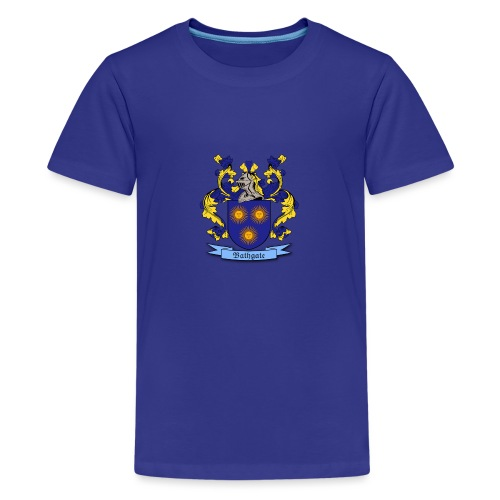 Bathgate Family Crest - Teenage Premium T-Shirt