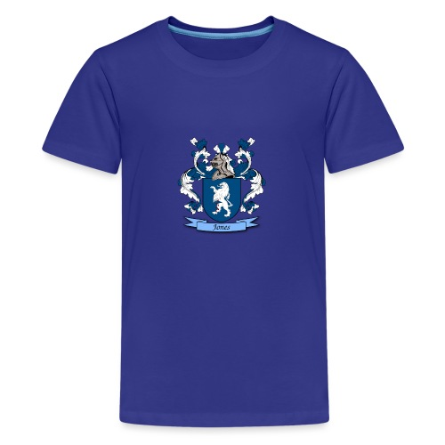 Jones Family Crest - Teenage Premium T-Shirt