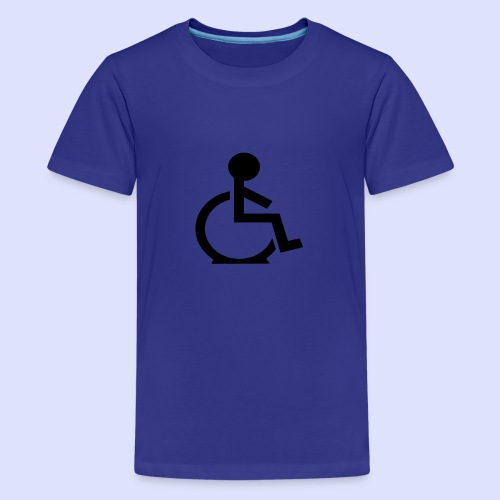 Rolstoel gebruiker met platte band - Teenager Premium T-shirt