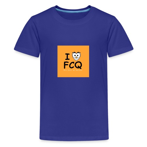 I Love FCQ button orange - Teenager Premium T-Shirt