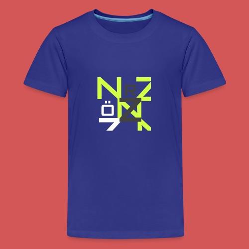 Nörthstat Group™ Clear Transparent Main Logo - Teenage Premium T-Shirt