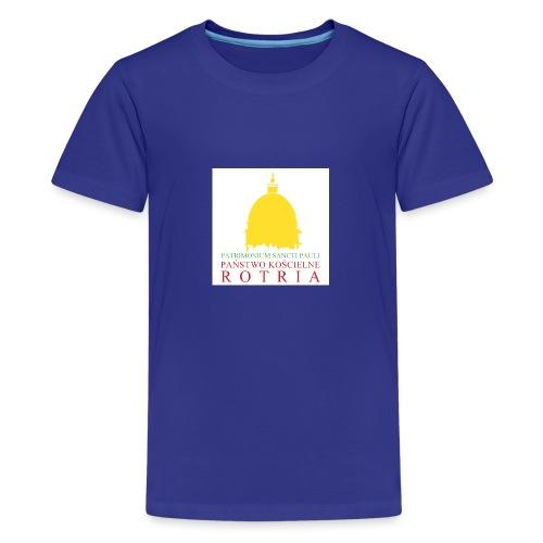 Koszulka z logo PKR - Koszulka młodzieżowa Premium
