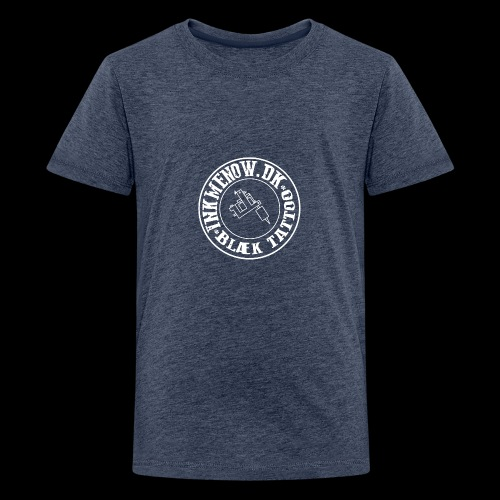 logo hvid png - Teenager premium T-shirt