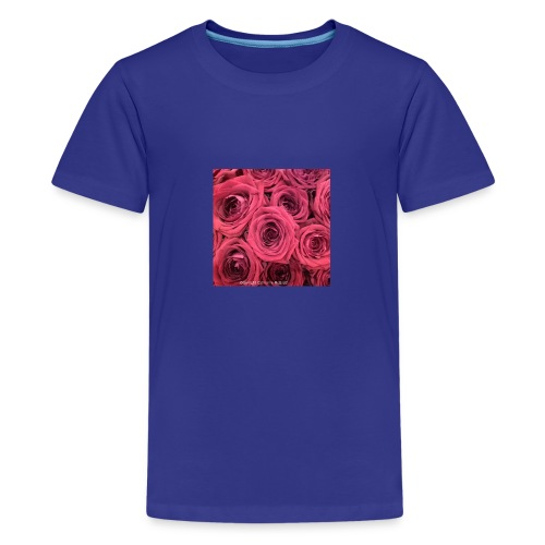Red roses - Teenage Premium T-Shirt