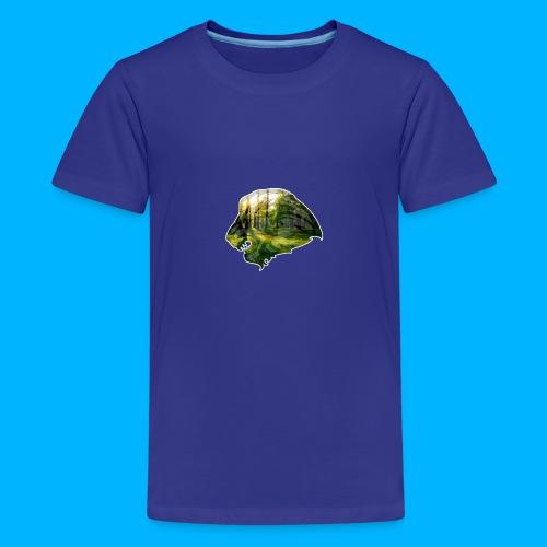 AMAZING WOOD LION - Teenager Premium T-Shirt