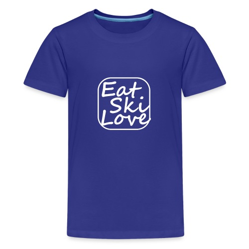 eat ski love - Teenager Premium T-shirt