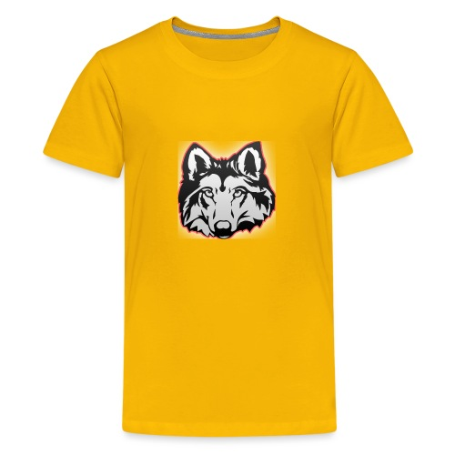 Wolfie (Red) - Teenage Premium T-Shirt
