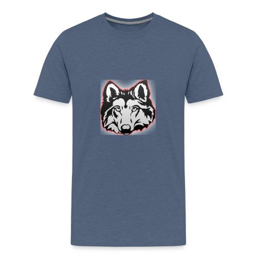 Wolfie (Red) - Teenage Premium T-Shirt