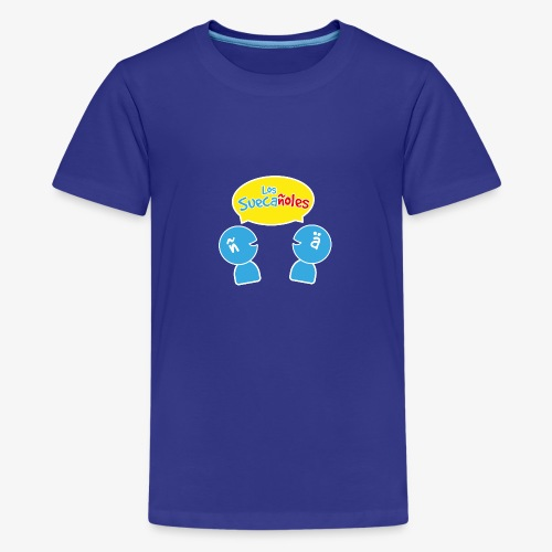 Los Suecañoles logo - Premium-T-shirt tonåring