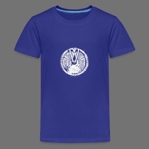 Maschinentelegraph (hvid oldstyle) - Teenager premium T-shirt