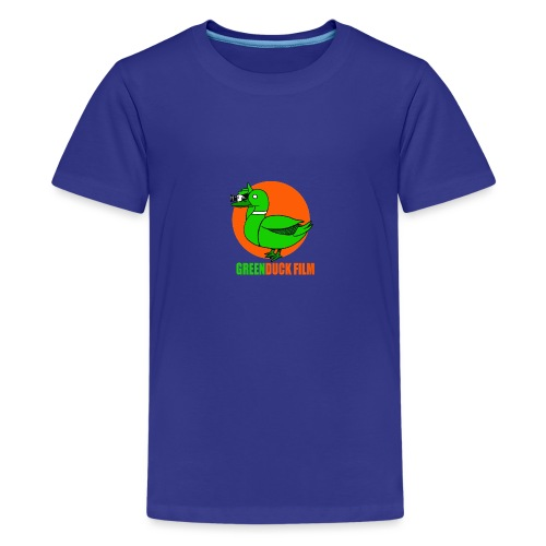 Greenduck Film Orange Sun Logo - Teenager premium T-shirt