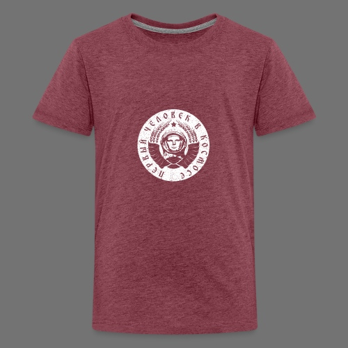 Cosmonaut 1c white (oldstyle) - Teenage Premium T-Shirt