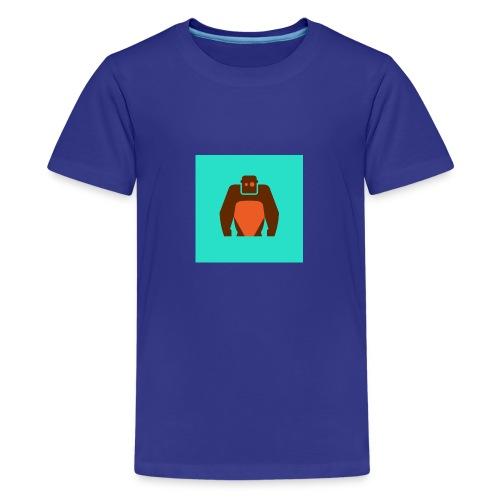 KielerKletterKeller e V Button Orange - Teenager Premium T-Shirt