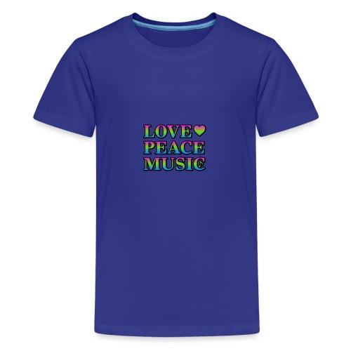 Love Peace Music - Teenage Premium T-Shirt
