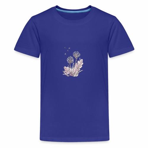 Pusteblume handgemalt - Teenager Premium T-Shirt