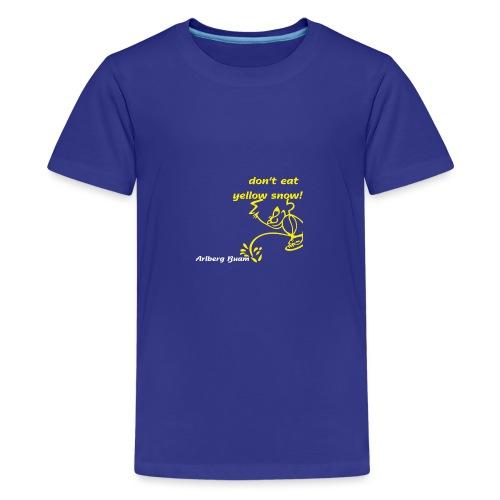 yellow snow - Teenager Premium T-Shirt