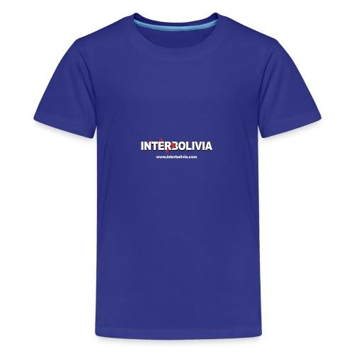 logo blanco interbolivia tshirt - Camiseta premium adolescente