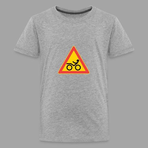 Traffic sign Recumbent - Teinien premium t-paita