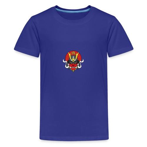Samouraï Casque Démon - T-shirt Premium Ado