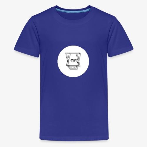 Minimalist Lemon Logo With Background - Premium-T-shirt tonåring
