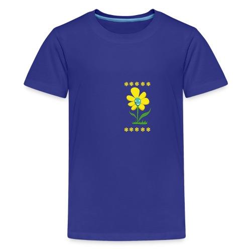 Gelbe Blume - Teenager Premium T-Shirt