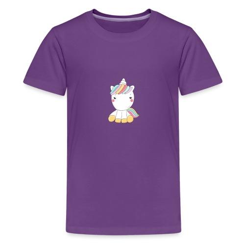 Niedliches Zauber Kawaii Einhorn in Pastelfarben - Teenager Premium T-Shirt