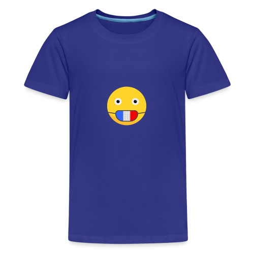 DESIGN EMOJI MASQUE COVID CORONA FRANCE - T-shirt Premium Ado