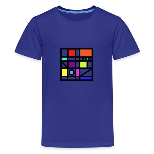 Squares - Teenage Premium T-Shirt