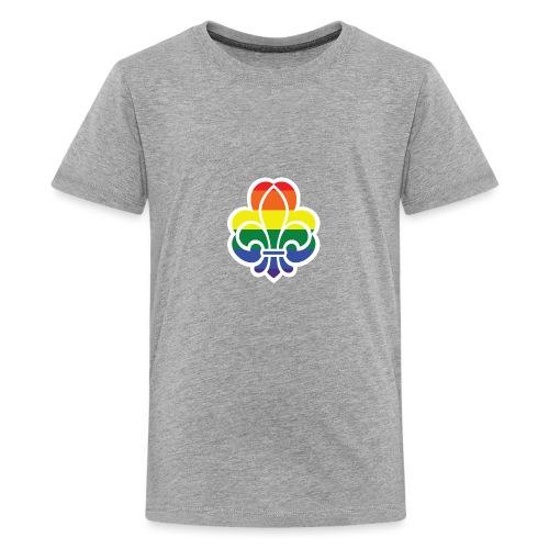 Regnbuespejder jakker og t-shirts mv - Teenager premium T-shirt