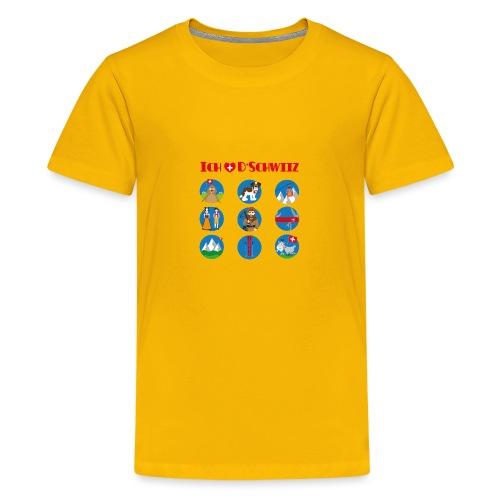 Ich liebe d'Schwiiz - Teenager Premium T-Shirt