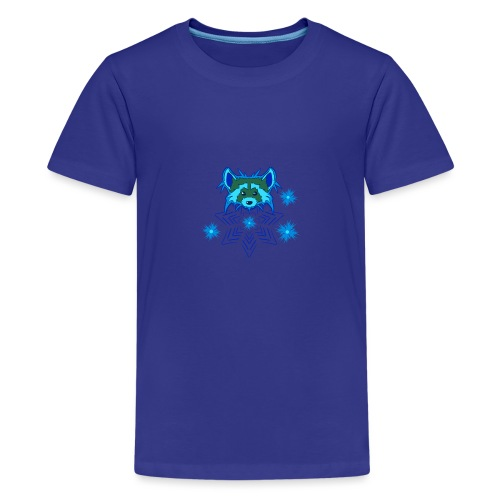 Snow Raccoon - Teenager Premium T-Shirt