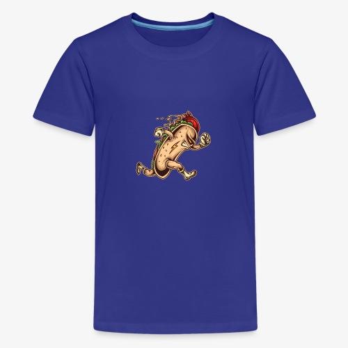 Hot Dog-Held - Teenager Premium T-Shirt
