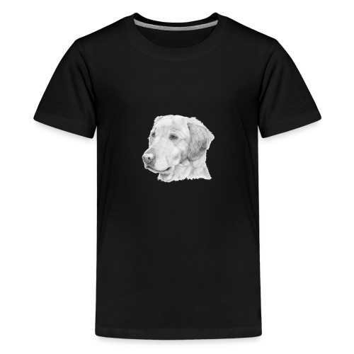 Golden retriever 2 - Teenager premium T-shirt