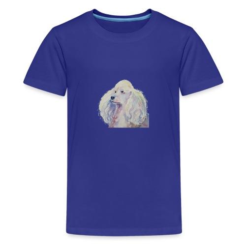 poodle standard white - Teenager premium T-shirt