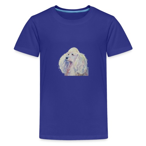 poodle standard white - Teenager premium T-shirt